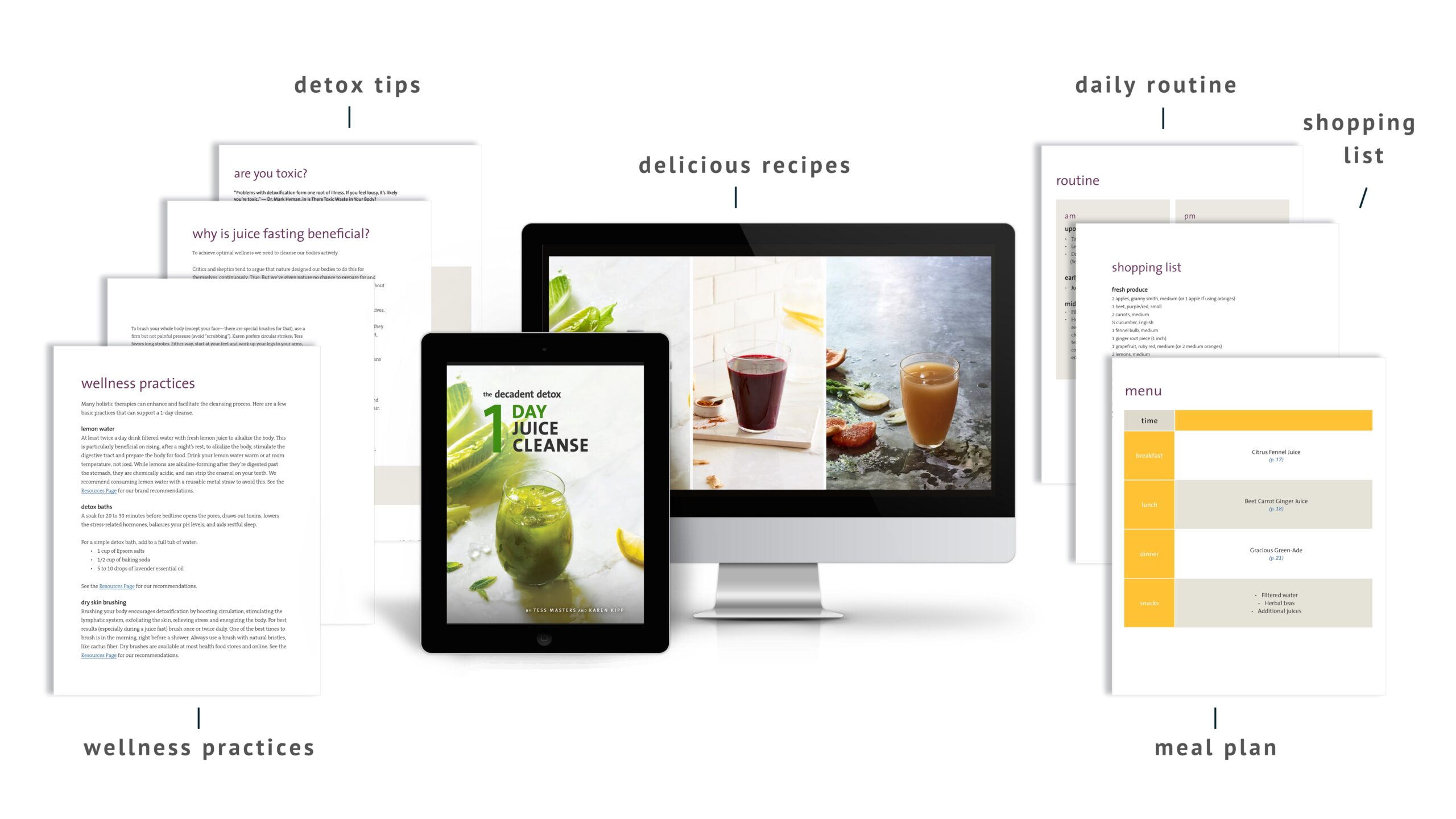 1 Day Juice Cleanse Desktop Hero Arrows
