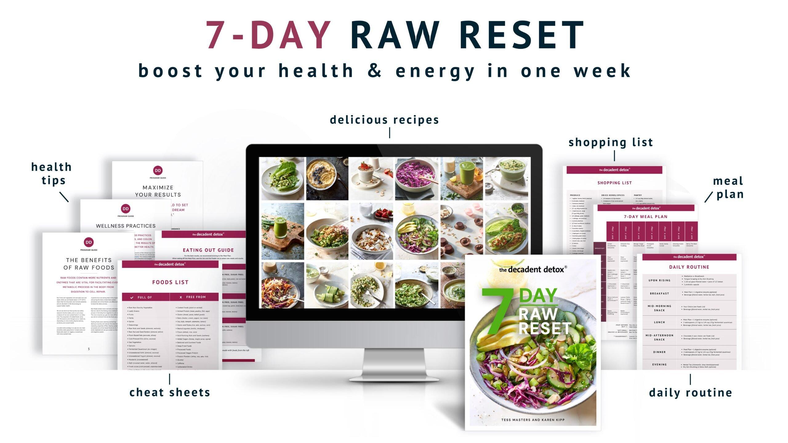 7 Day Raw Reset Desktop Hero Title